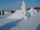 Special events in winter, like snow building, are part of the winter program of Saksala ArtRadius.